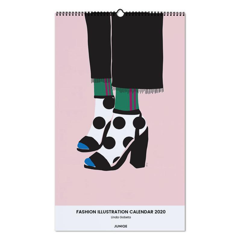 Fashion Illustration Calendar 2020 - Linda Gobeta Wall Calendar