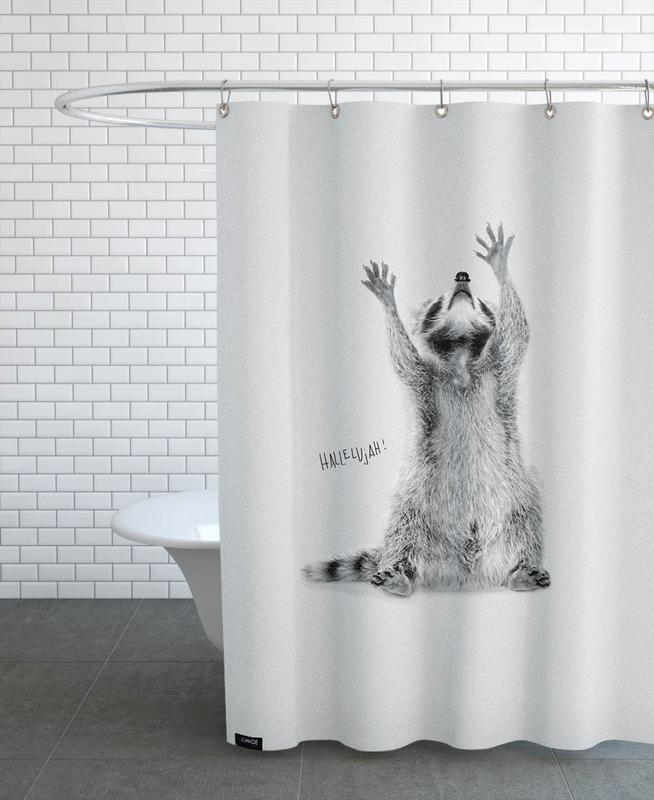 Racoon Shower Curtain