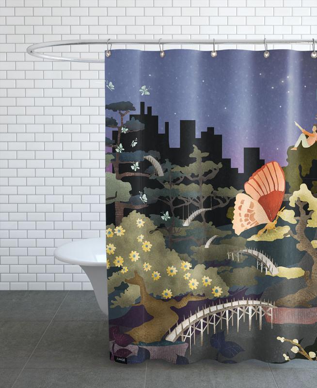 Bonsais and Butterflies Shower Curtain