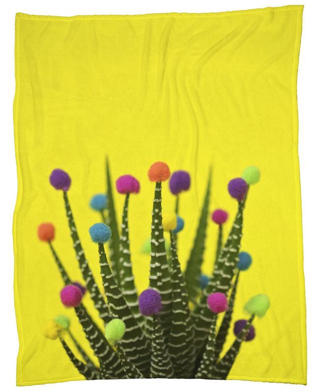 Haworthia in Bloom Fleecedecke | Heimtextilien > Decken und Kissen > Mehr-Decken | Mehrfarbig