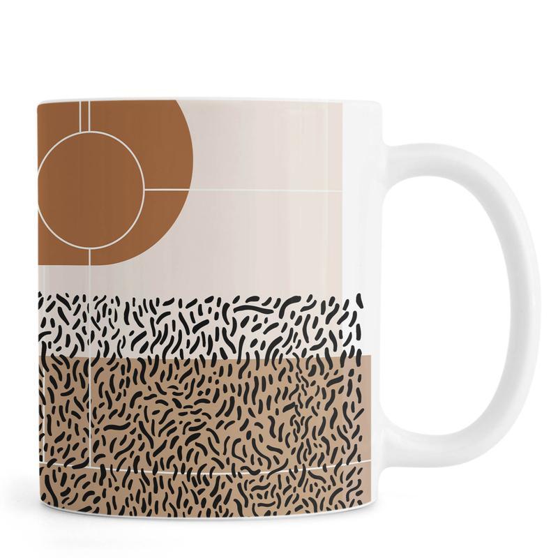 Beige & Brown Mug
