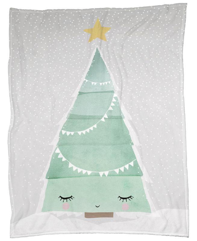 Oh Tannenbaum Fleecedecke | Heimtextilien > Decken und Kissen > Mehr-Decken | Mehrfarbig