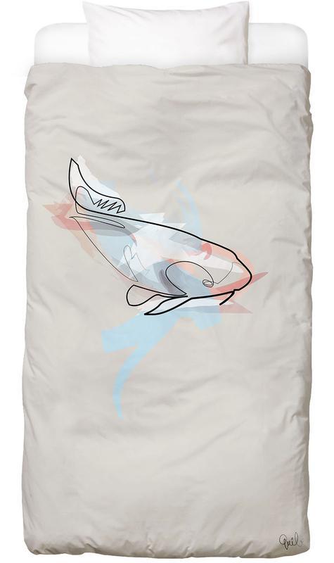 One Line Koi Fish Linge de lit