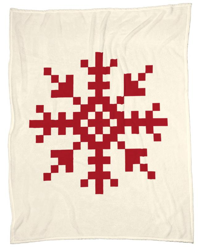 Red Snowflake 3 Fleecedecke | Heimtextilien > Decken und Kissen > Mehr-Decken | Mehrfarbig