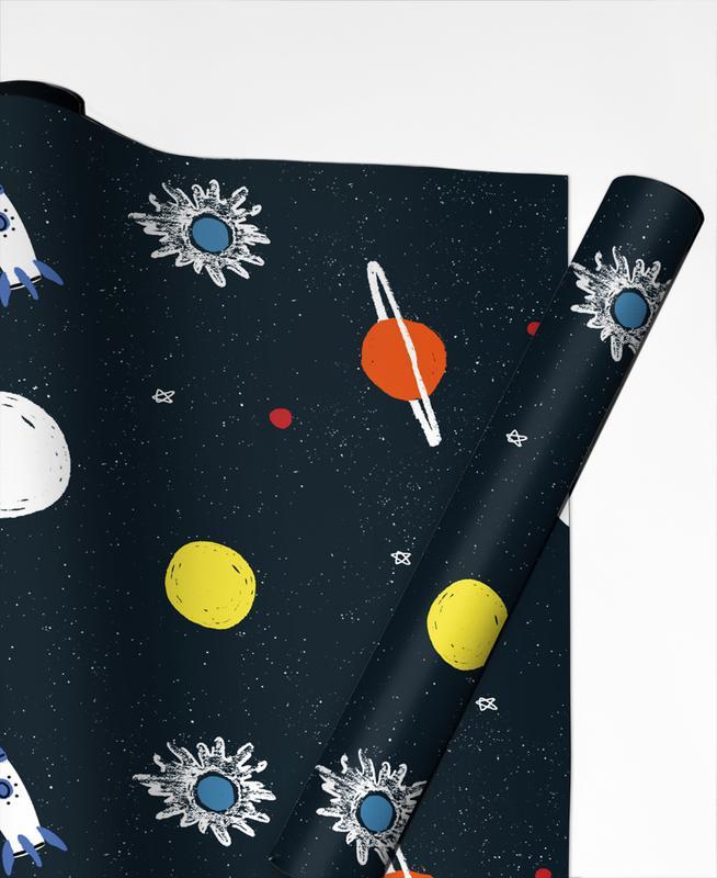 Planets Pattern Geschenkpapier | Weihnachten > Geschenkideen | Mehrfarbig
