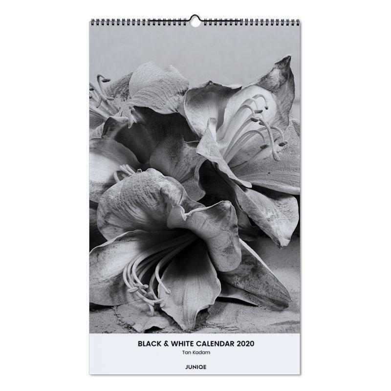Black & White Calendar 2020 - Tan Kadam Wall Calendar