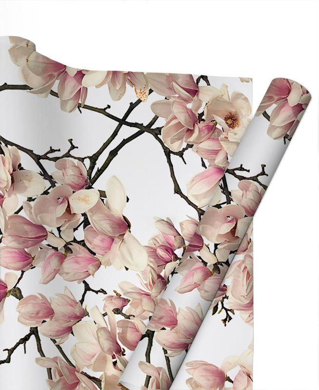 Flora Magnolie Geschenkpapier | Weihnachten > Geschenkideen | Mehrfarbig