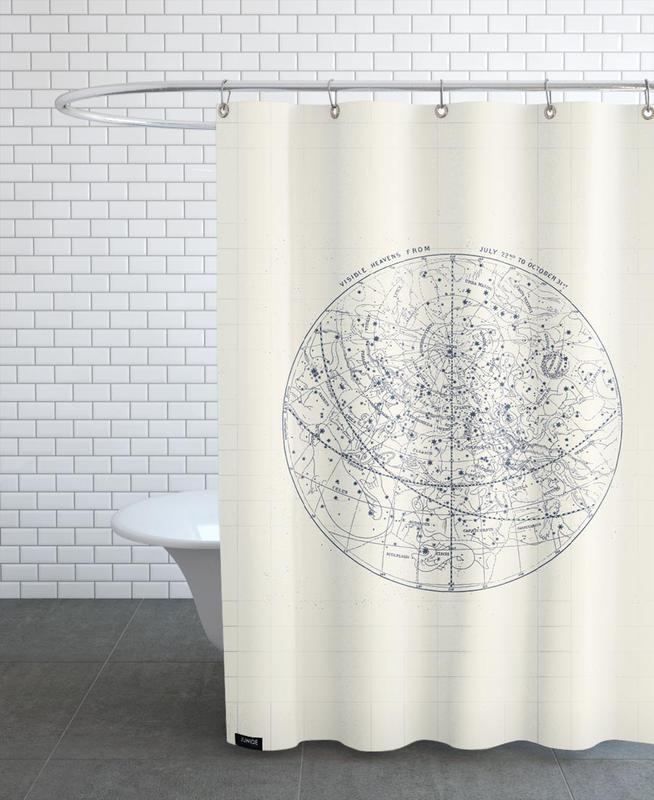 Visible Heavens Blue Duschvorhang   Bad > Duschen > Duschvorhänge