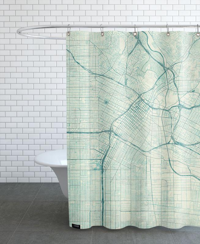 Los Angeles Vintage Shower Curtain