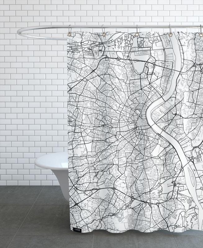 Bordeaux Minimal Shower Curtain