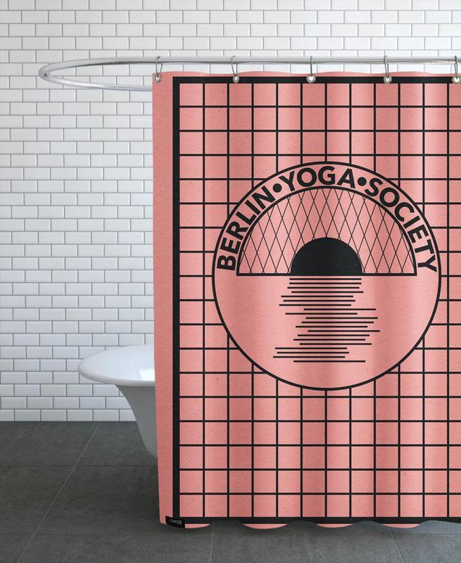 Berlin Yoga Society Shower Curtain