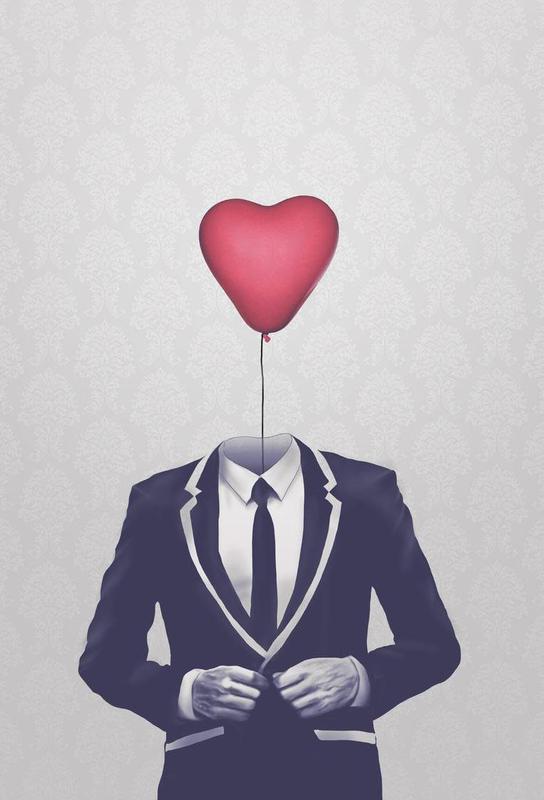 Mr Valentine Acrylglasbild | Dekoration > Bilder und Rahmen > Bilder | Mehrfarbig | Aluminium
