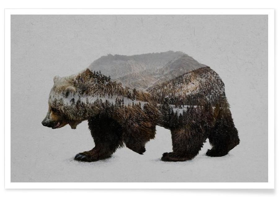 The Kodiak Brown Bear Poster