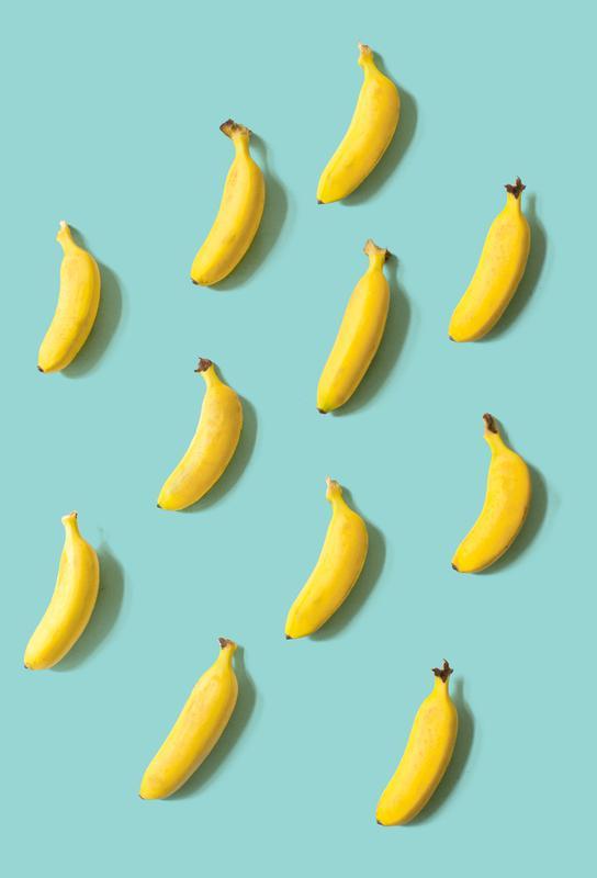 Banane Acrylglasbild