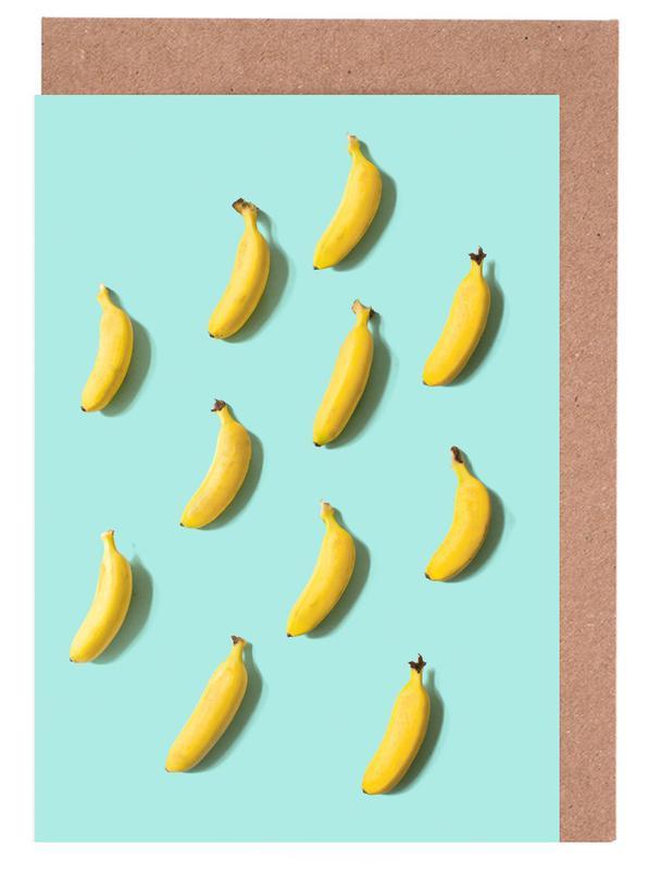 Banane Grußkartenset