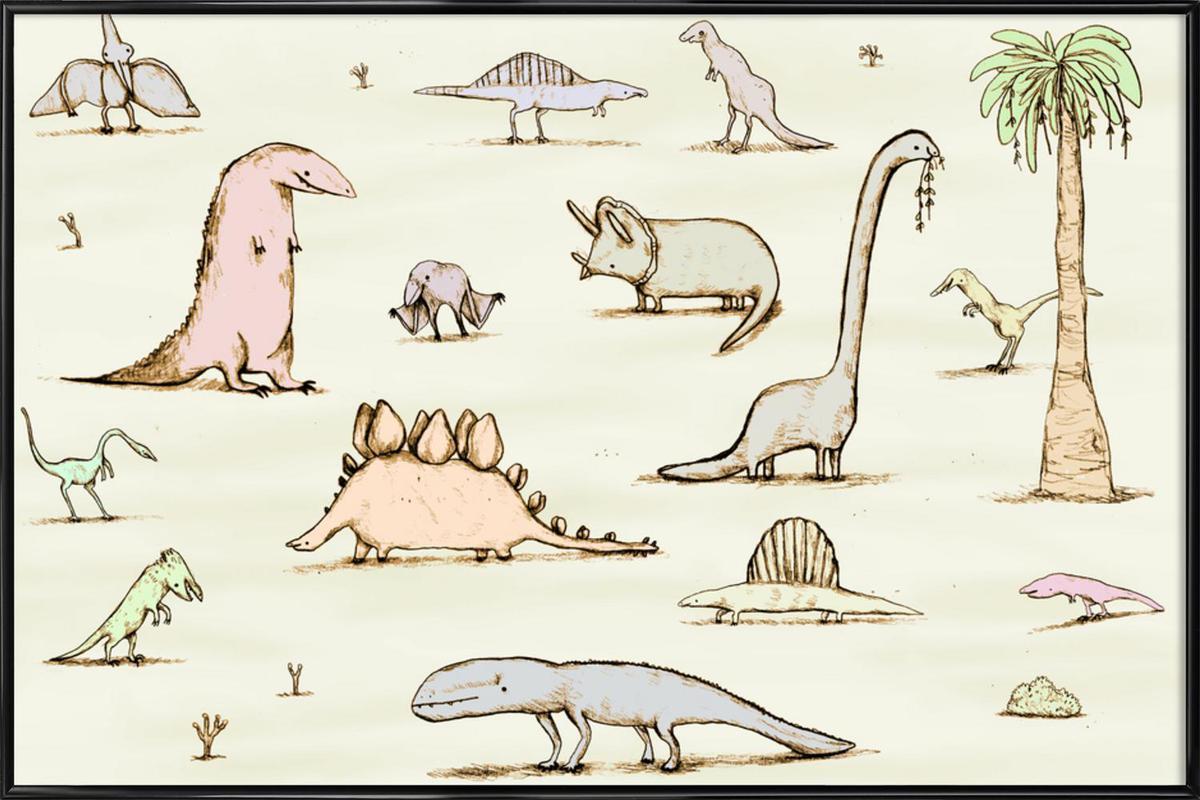 Dinos Framed Poster
