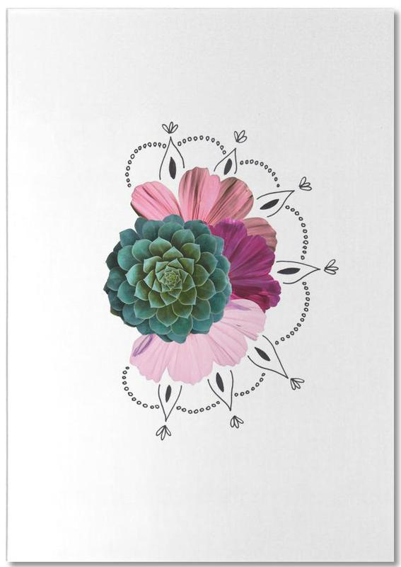 Succulent Collage -Notizblock