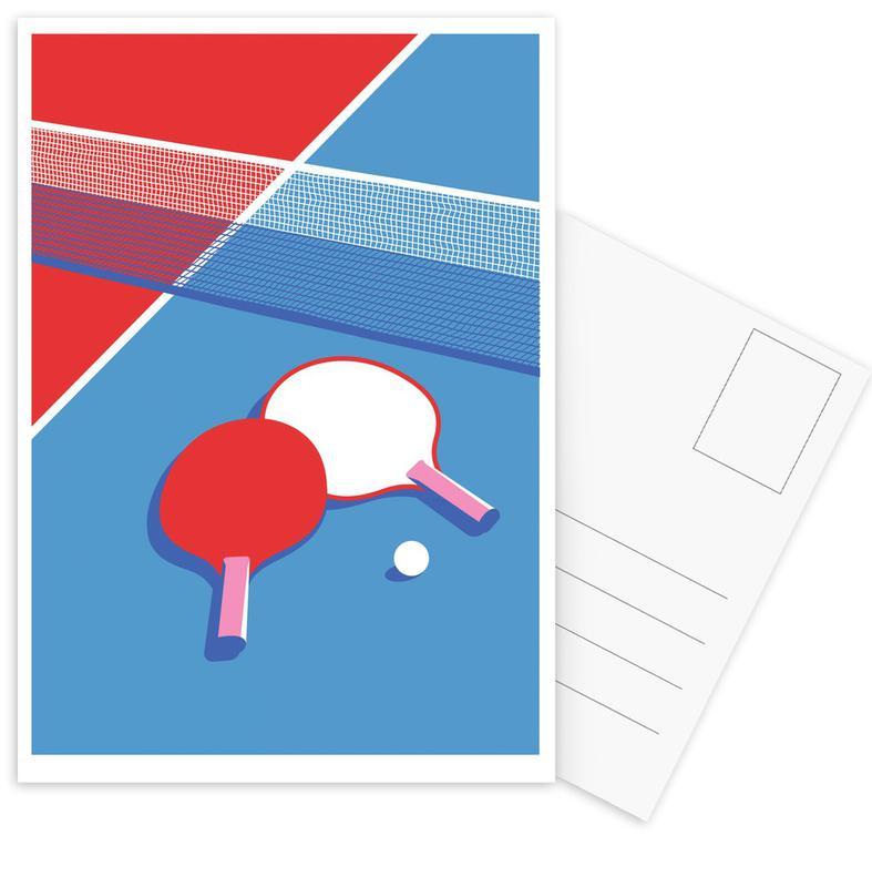 Ping Pong -Postkartenset