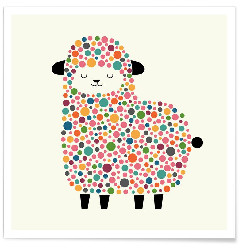 Bubble Sheep Poster