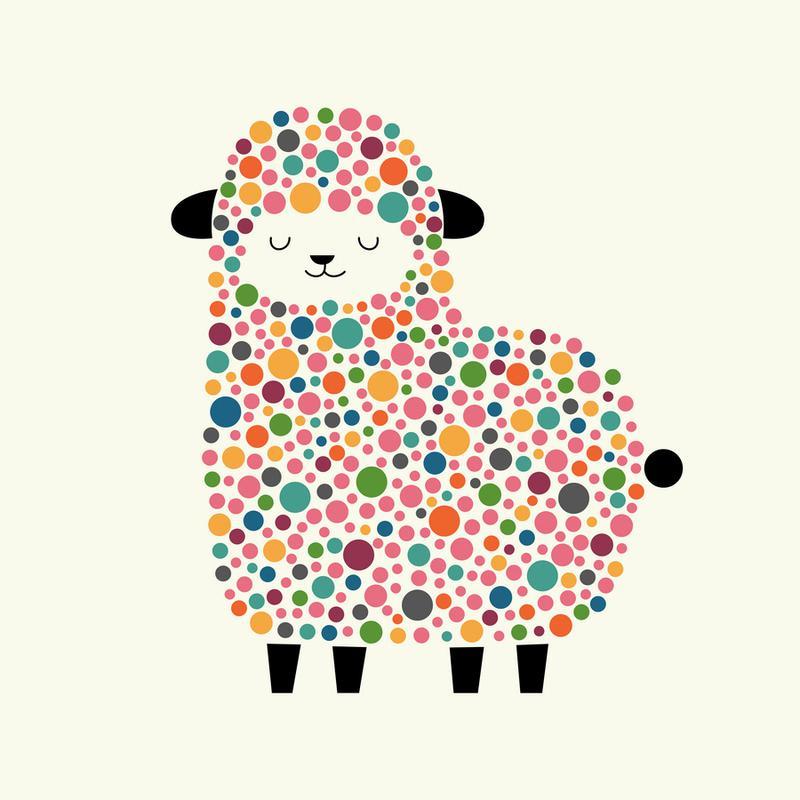 Bubble Sheep Canvas Print