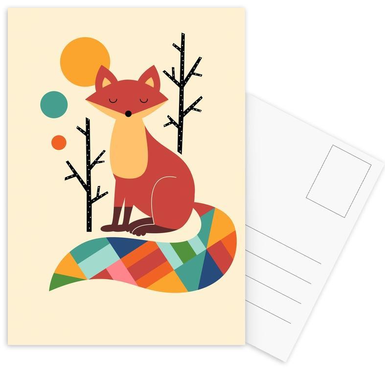 Rainbow Fox Postcard Set