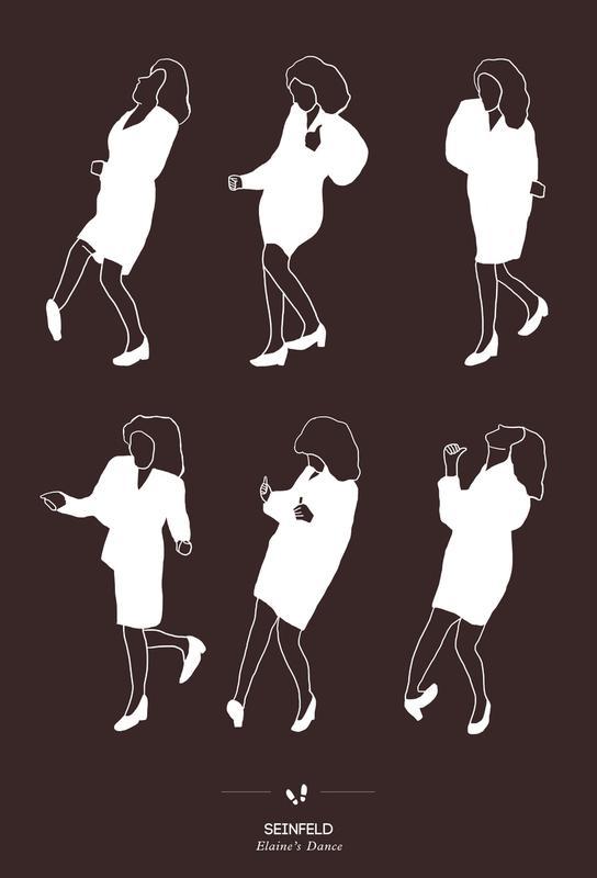 Seinfeld - Elaine's Dance Aluminium Print
