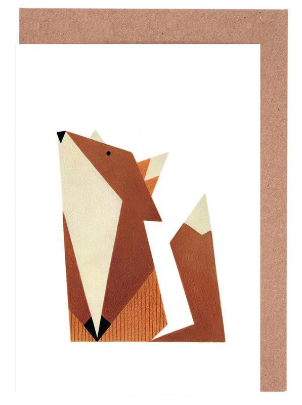 Fuchs #1 Grußkartenset   Dekoration > Accessoires   Mehrfarbig