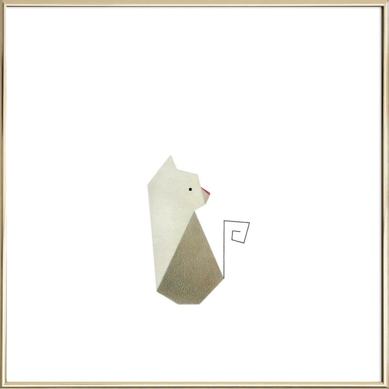 Katze #1 Poster im Alurahmen