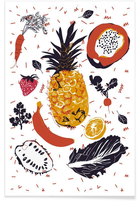 Fruit Veggie Party Poster