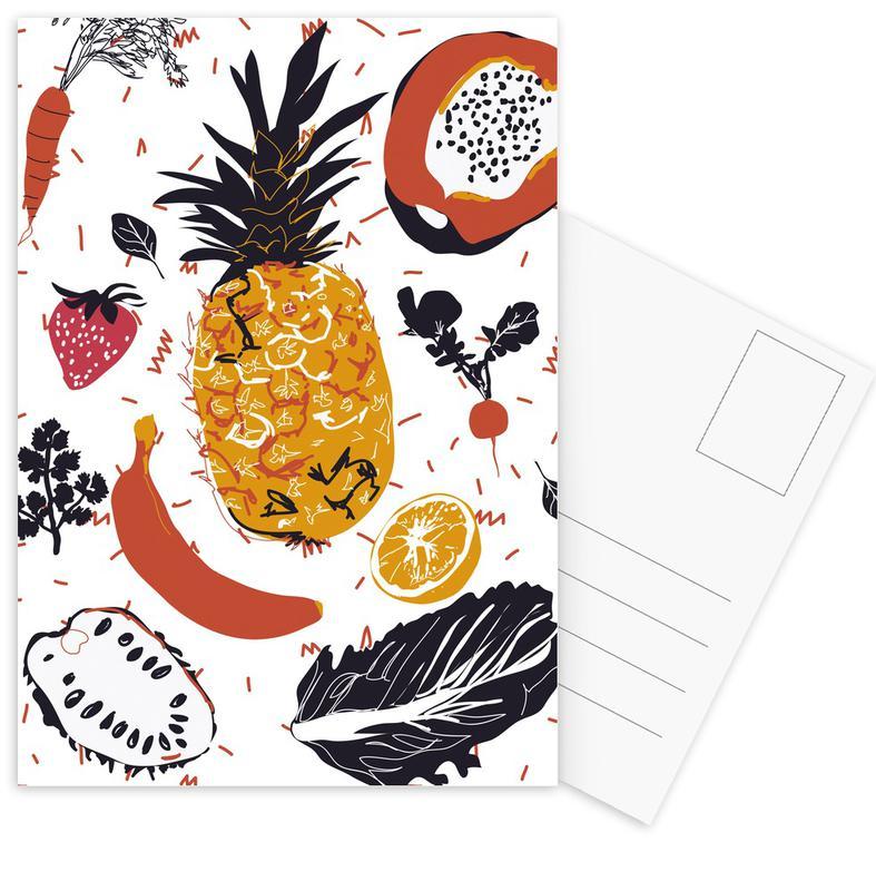 Fruit Veggie Party Postcard Set