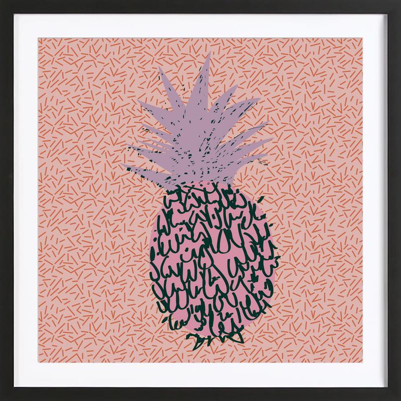 Memphis Pineapple Framed Print