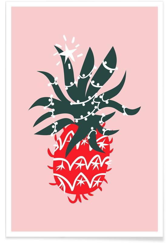 Christmas Pineapple 2 Poster