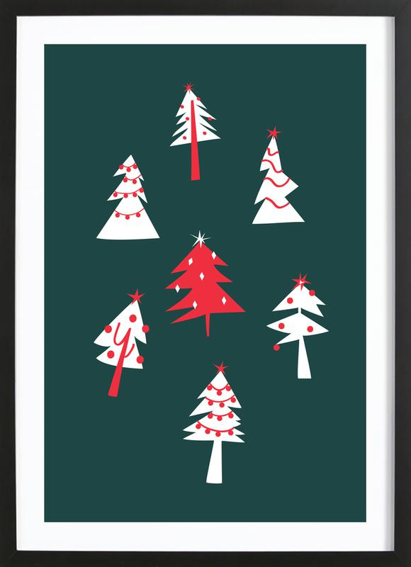 Holiday Pines Framed Print