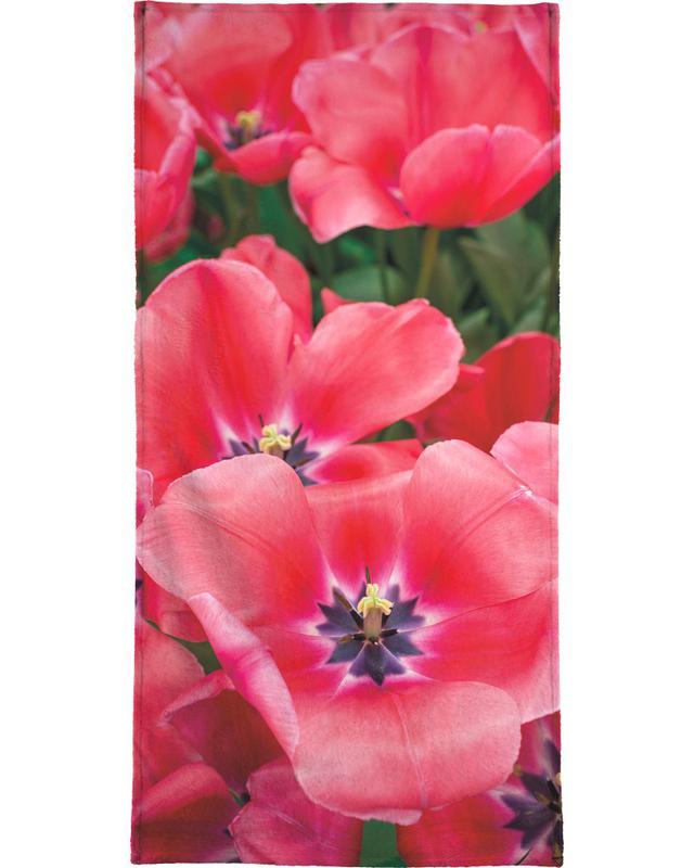 Big Pink Tulips -Strandtuch