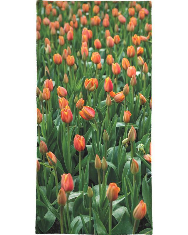 Tulip Field Orange serviette de plage
