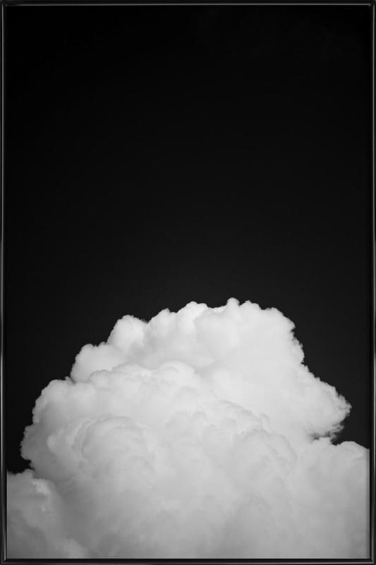 Black Clouds II -Bild mit Kunststoffrahmen