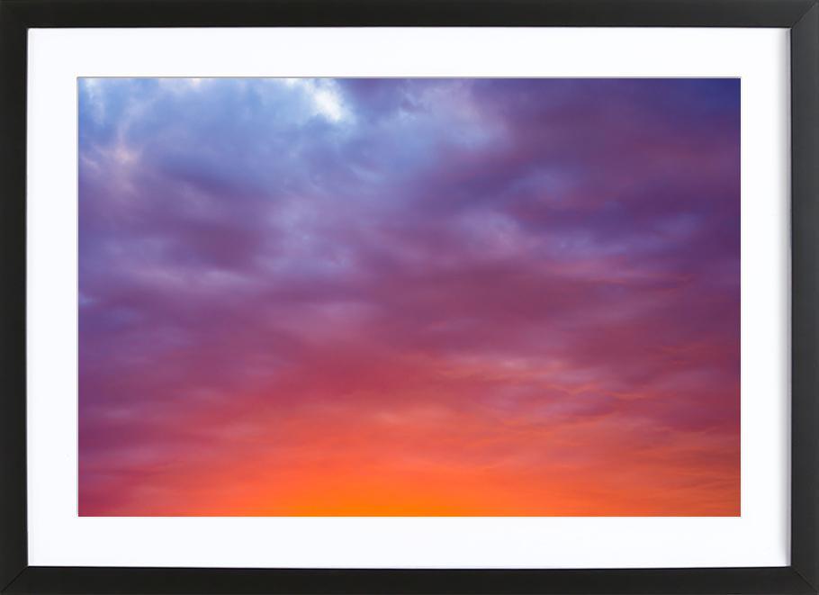 Sunset #1 -Bild mit Holzrahmen