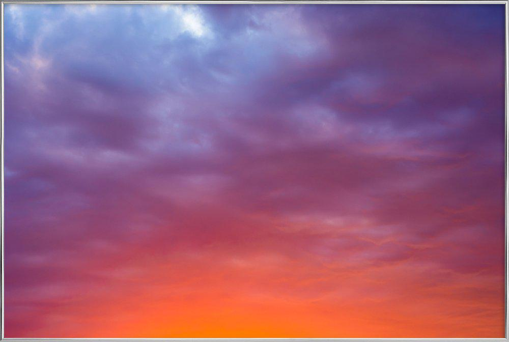 Sunset #1 Poster in Aluminium Frame