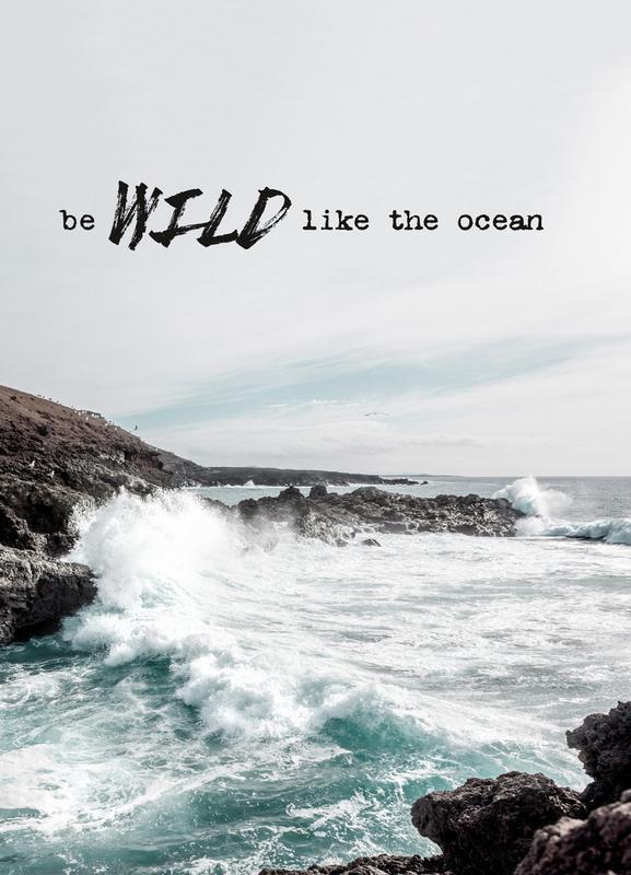 Wild like the ocean Leinwandbild