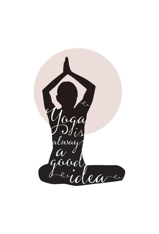 Yoga acrylglas print