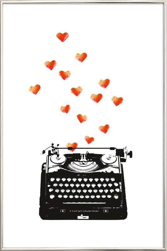 Loveletter Poster im Alurahmen   Dekoration > Bilder und Rahmen > Poster   Mehrfarbig