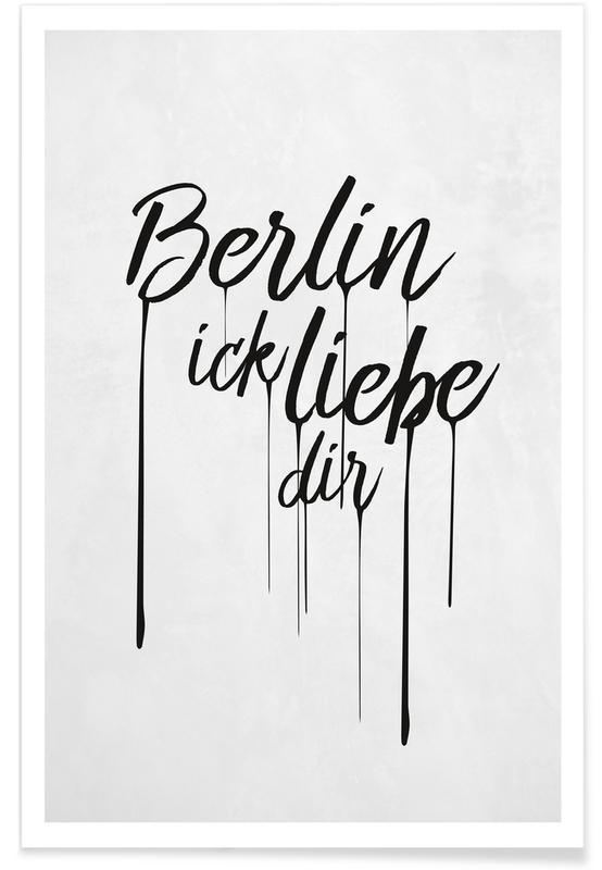 Berlin ick liebe dir Poster