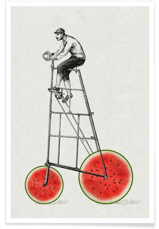 Melonenradler Poster