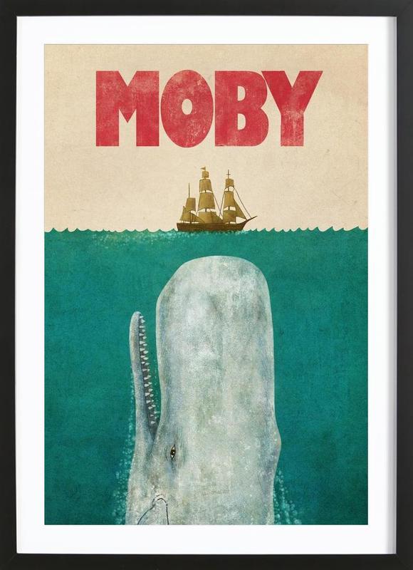 Moby affiche sous cadre en bois