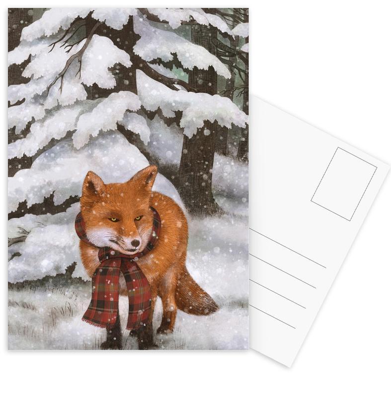 Winter Fox Postcard Set