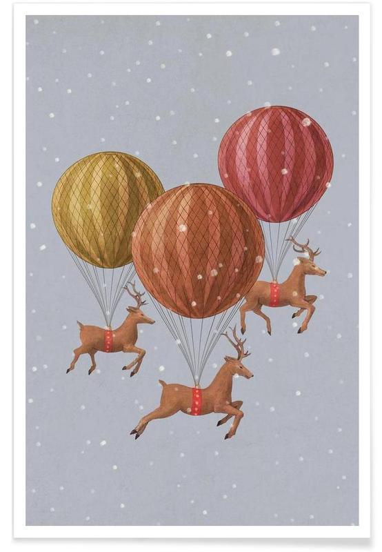 Flight of the deer poster