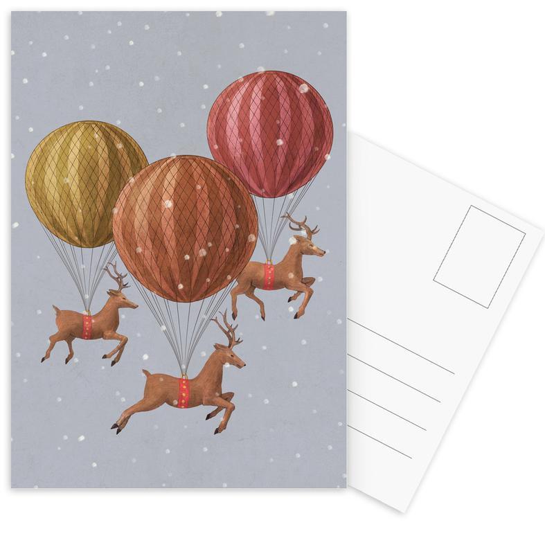 Flight of the deer Postcard Set