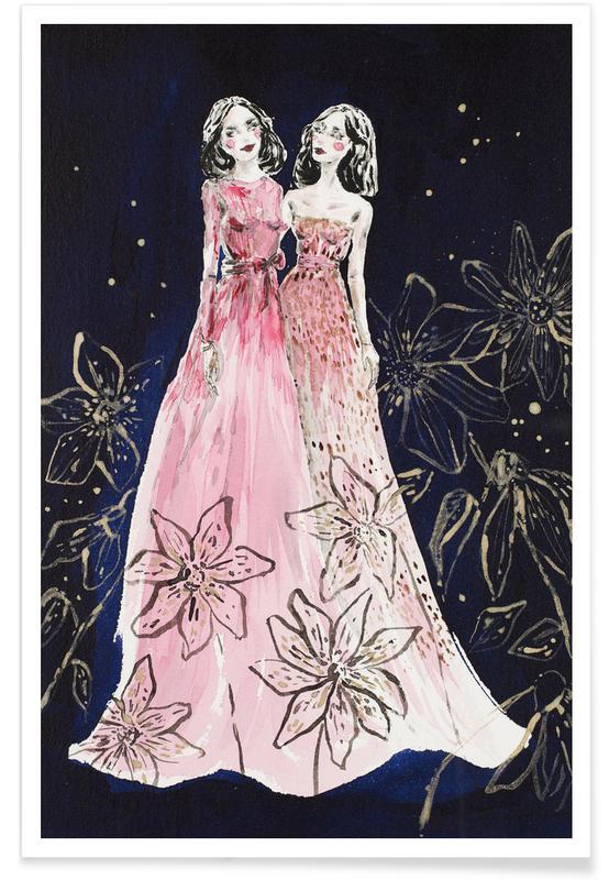Friends flowers fashion Premium Poster