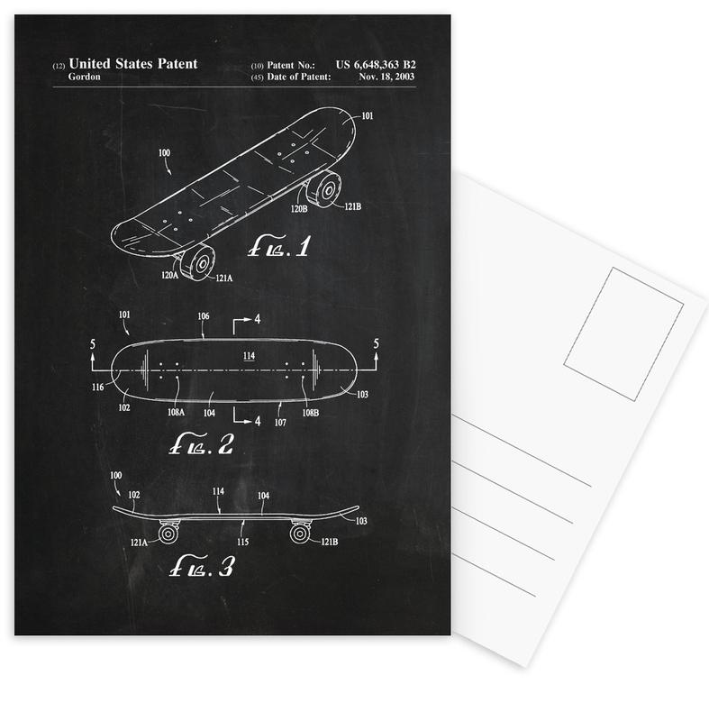 Skateboard Postcard Set