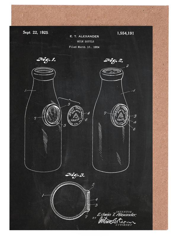 Milk Bottle Grußkartenset